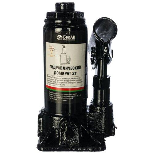 Домкрат бутылочный гидравлический БелАвтоКомплект БАК.00039 (2 т) черный домкрат бутылочный гидравлический белавтокомплект бак 10039 2 т черный