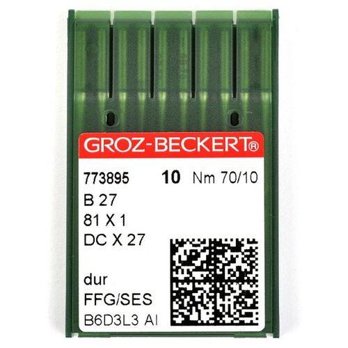 Игла для ПШМ Groz-Beckert, №70, 10 штук, арт. 773895
