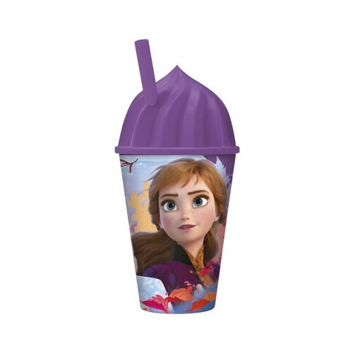 Купить Стакан пластиковый с соломинкой и объемной крышкой в виде мороженного Холодное сердце 2 , 430 мл, ND Play, Посуда