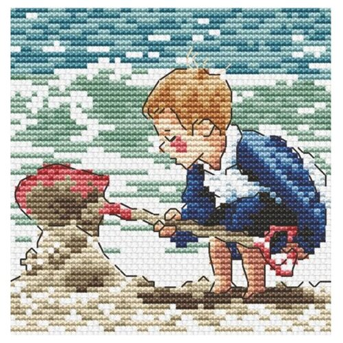 Купить Hobby & Pro Набор для вышивания Пляжные игры 9 х 9 см (S-081), Наборы для вышивания