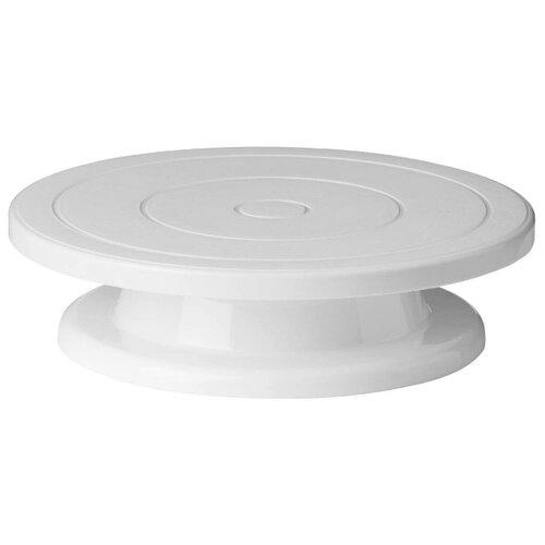 Доляна Подставка для торта вращающаяся 28 см белыйБлюда и салатники<br>