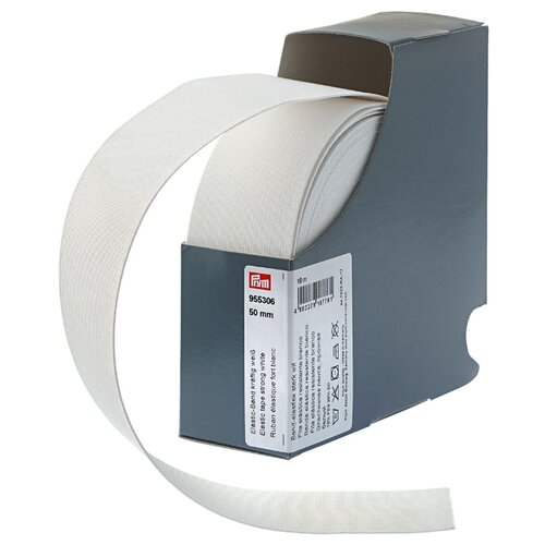 Prym Прочная эластичная лента (955306), белый 5 см х 10 м prym эластичная лента мягкая 955351 белый 1 5 см х 10 м