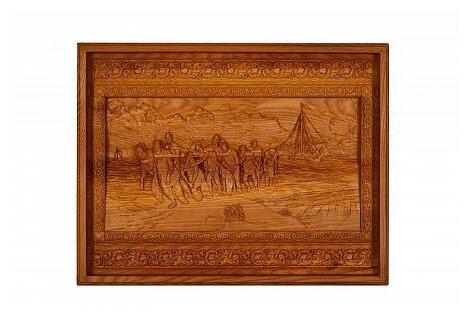Лото Rovertime в резной шкатулке Бурлаки на Волге, мореный ясень