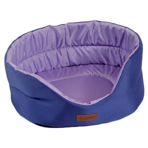 Фото - Лежак для собак и кошек Katsu Classic Shine S 46х42х18 см фиолетовый/лаванда домик для собак и кошек katsu patchwork s 30х30х16 см лиловый