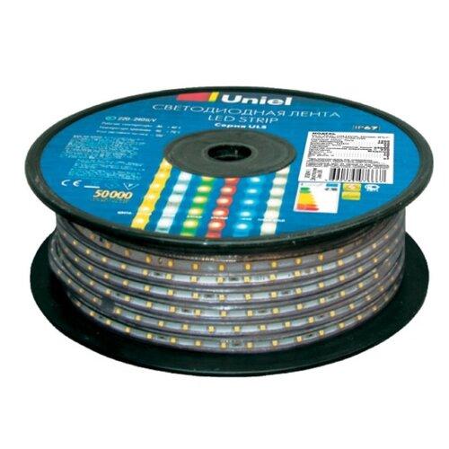 Светодиодная лента Uniel ULS-2835-60LED/m-10mm-IP67-220V-8W/m-50M-YELLOW 50 м