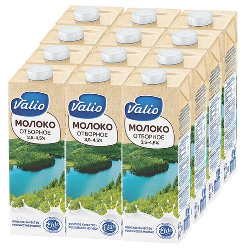 Фото - Молоко Valio ультрапастеризованное отборное 4.5%, 12 шт. по 1 л молоко элакто ультрапастеризованное 3 2% 1 л