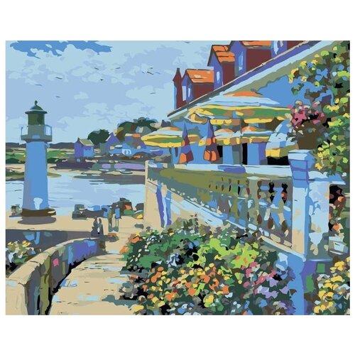Купить Картина по номерам Живопись по Номерам Курортный городок , 40x50 см, Живопись по номерам, Картины по номерам и контурам