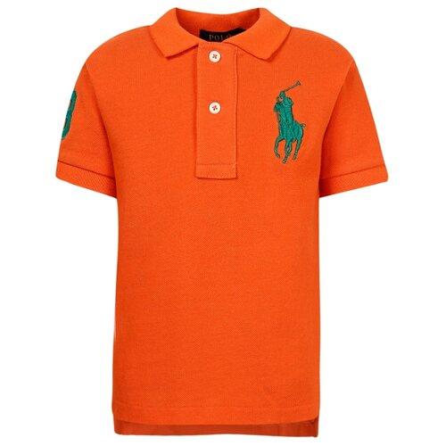 Купить Поло Ralph Lauren размер 104, оранжевый, Футболки и майки