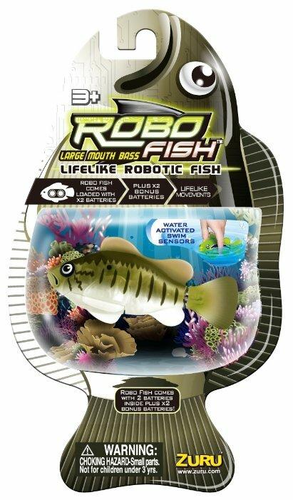 Интерактивная игрушка робот ZURU РобоРыбка Большеротый окунь 2532O