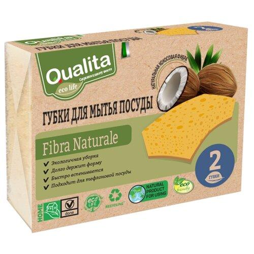 Губка Qualita Fibra naturale 2 шт, желтый