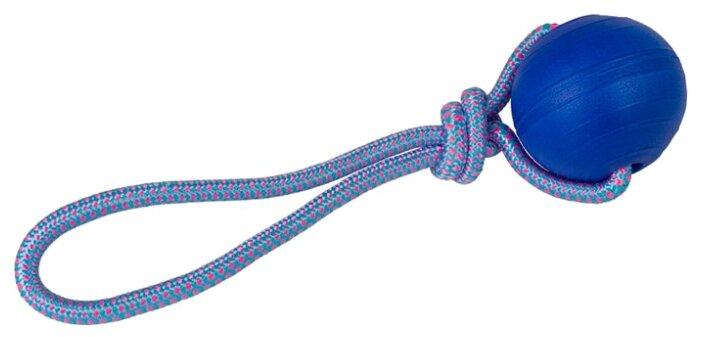 Мячик для собак КАСКАД Steam на веревке, плавающий (27799101)