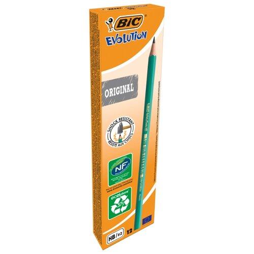 Купить BIC Набор чернографитных карандашей Evolution Original 12 шт (880311), Карандаши