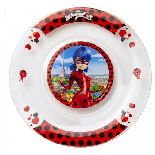 Фото - ND Play Тарелка Леди Баг и Супер Кот, Париж-сердечки 19,5 см прозрачный/красный stor тарелка леди баг 23 см красный