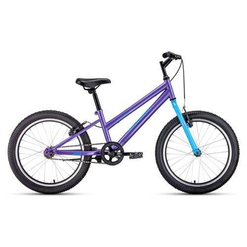 """Подростковый горный (MTB) велосипед ALTAIR MTB HT 20 Low (2020) фиолетовый 10.5"""" (требует финальной сборки)"""
