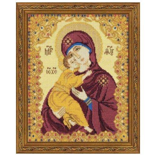 Фото - Риолис Набор для вышивания 1300 Богоматерь Владимирская 13 х 16 см изображение янтарь богоматерь владимирская 13х16 см