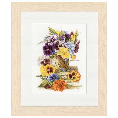 Купить Lanarte Набор для вышивания Чайник с фиалками 23 x 30 см (0154463-PN), Наборы для вышивания