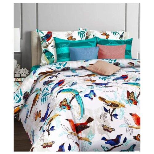 цена Постельное белье 2-спальное Mona Liza Nocturn 50х70 см, бязь белый/голубой онлайн в 2017 году