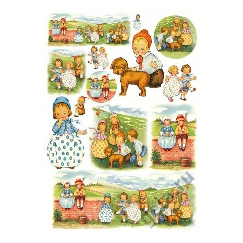 Купить Карта для декупажа Дети 50 х 70 см 1 лист, Stamperia, Карты, салфетки, бумага