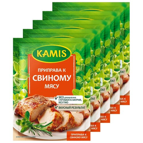 Фото - KAMIS Приправа К свиному мясу, 5х25 г kamis приправа тосканский лосось 4х18 г