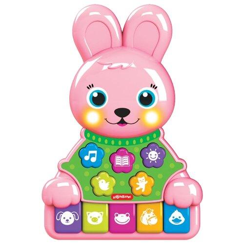 Купить Развивающая игрушка Азбукварик Музыкальные зверята. Зайчик розовый, Развивающие игрушки