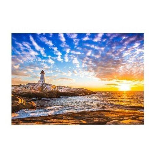 Фото - Рыжий кот Картина по номерам Прекрасный маяк на закате 40x50 см (Х-9206) рыжий кот картина по номерам винни пух союзмультфильм 18х24 см х 5440