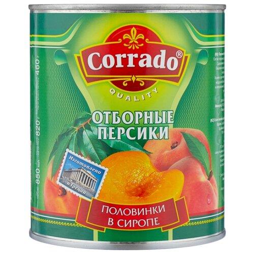 Консервированные персики Corrado половинки в сиропе, жестяная банка 820 г vegda персики в сиропе 425 мл