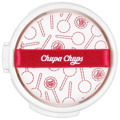 Фото - Chupa Chups Тональный крем Candy Glow Cushion Strawberry Refill сменный блок, 14 г, оттенок: 1.0 Ivory chupa chups candy glow cushion spf50 pa тональное средство в кушоне слоновая кость 14 гр