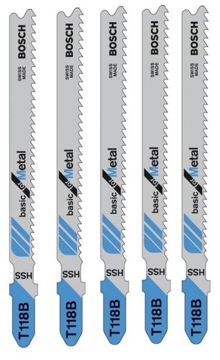 Набор пилок для лобзика BOSCH T118B 2608631014 5 шт.
