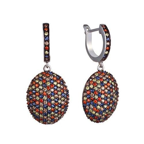 JV Серебряные серьги с кубическим цирконием BR5522-003-WG