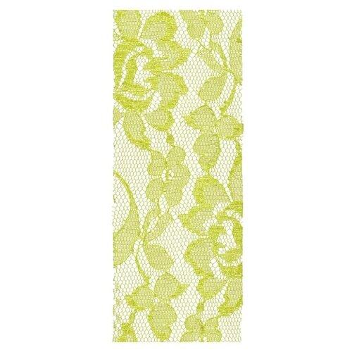 Купить Лента BLUMENTAG кружевная LRW-71 62 мм, 10 м 057 желто-зеленый/кружево, Декоративные элементы