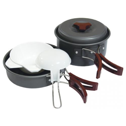 Набор туристической посуды Tramp TRC-025, 8 шт. серый