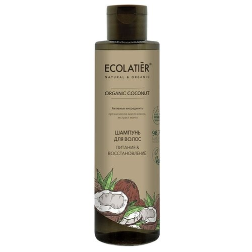 Купить Ecolatier GREEN Шампунь для волос Питание & Восстановление Серия ORGANIC COCONUT, 250 мл, ECO Laboratorie