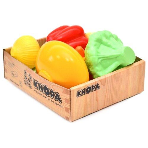 Купить Набор продуктов Knopa Малый ящик Овощи 87047 разноцветный, Игрушечная еда и посуда