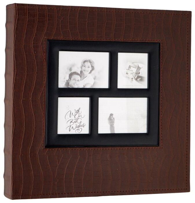 Фотоальбом BRAUBERG обложка под кожу крокодила (390715), 500 фото, для формата 10 х 15, коричневый