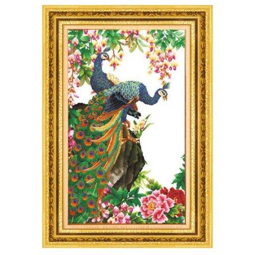 Купить Hobby & Pro Набор для вышивания Павлины 38 х 63 см (S-005), Наборы для вышивания