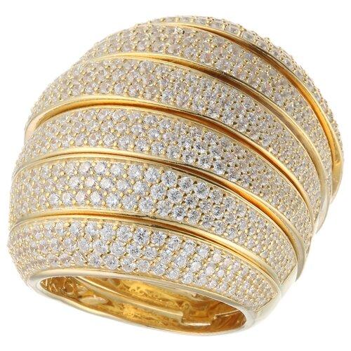 Фото - ELEMENT47 Широкое ювелирное кольцо из серебра 925 пробы с кубическим цирконием DM0523R_KO_PINK, размер 18 element47 широкое ювелирное кольцо из серебра 925 пробы с кубическим цирконием 05s2azr104804curi 001 wg размер 18