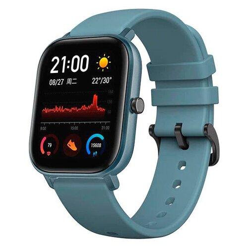 Умные часы c GPS Amazfit GTS голубой