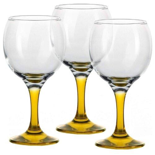 Glass4you Набор бокалов 44411 3 штуки 290 мл прозрачный/желтый