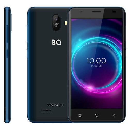 Смартфон BQ 5046L Choice LTE, deep blue смартфон bq mobile bq 5046l choice lte ultraviolet