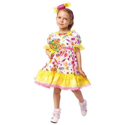 Купить Костюм Батик Конфетка (1043 к-18), розовый/желтый, размер 116-60, Карнавальные костюмы
