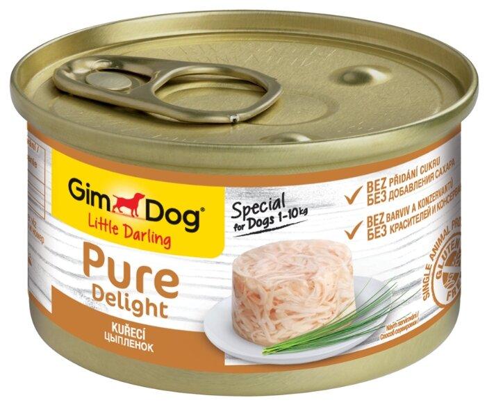 Корм для собак GimDog Pure Delight курица с рисом 85г (для мелких пород)
