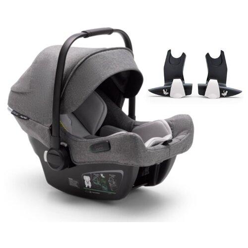 Купить Автокресло-переноска группа 0+ (до 13 кг) Bugaboo Turtle Air by Nuna (+адаптер для коляски BEE), grey melange, Автокресла