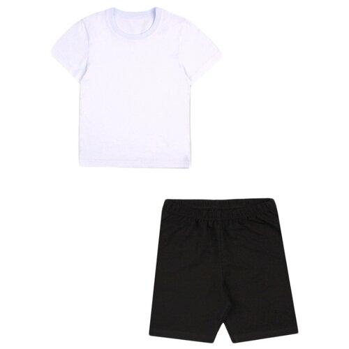 Спортивный костюм Апрель размер 116-60, белый/черный
