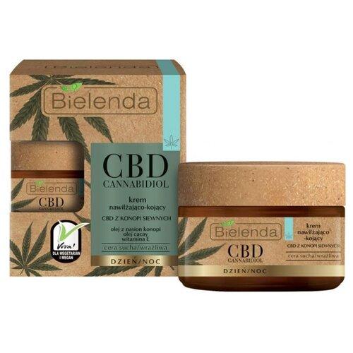 Купить Bielenda CBD Cannabidiol Cream Увлажняющий и успокаивающий крем для сухой и чувствительной кожи лица, 50 мл