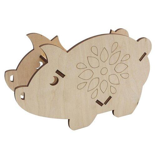 Купить Astra & Craft Деревянная заготовка для декорирования Свинка L-997 береза, Декоративные элементы и материалы