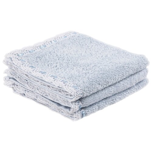 Arya Набор полотенец Lace для рук 30х30 см голубой
