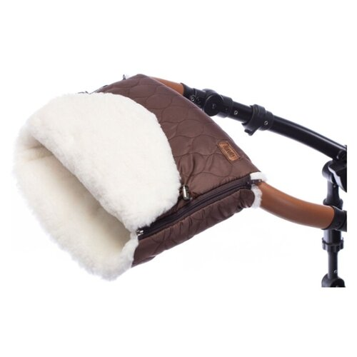 Купить Муфта меховая для коляски Nuovita Polare Bianco (cioccolata/Шоколад), Аксессуары для колясок и автокресел