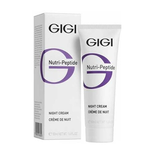Gigi Nutri-Peptide пептидный ночной крем, 50 мл gigi пептидный увлажняющий балансирующий крем для жирной кожи 50 мл gigi nutri peptide