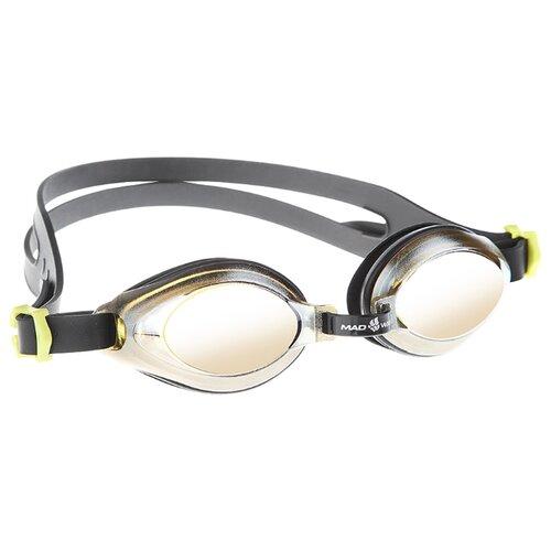 Очки для плавания MAD WAVE Aqua Mirror black очки для плавания mad wave aqua pink white