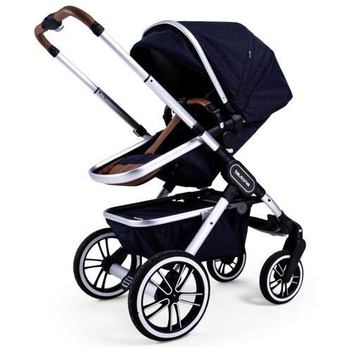Купить Универсальная коляска Teutonia TRIO (2 в 1) melange navy, цвет шасси: серебристый, Коляски